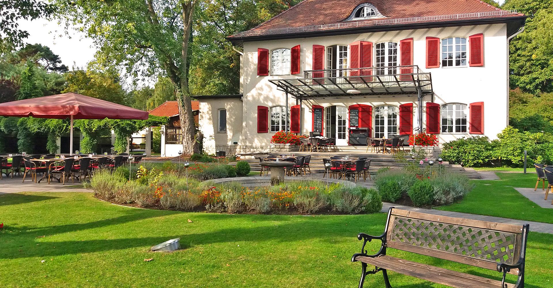 Das Waldhaus Prieros mit seinem Restaurant Seeromantik